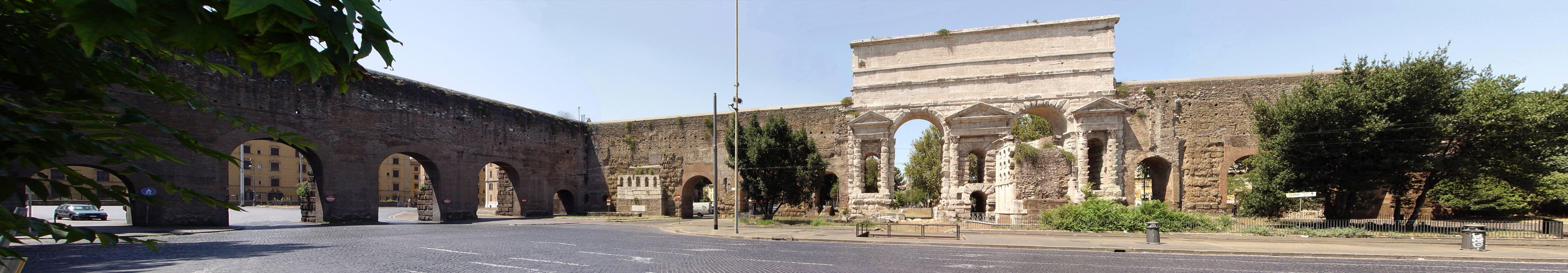 Acquedotti romani fuori porta maggiore al tuscolano for Porta maggiore