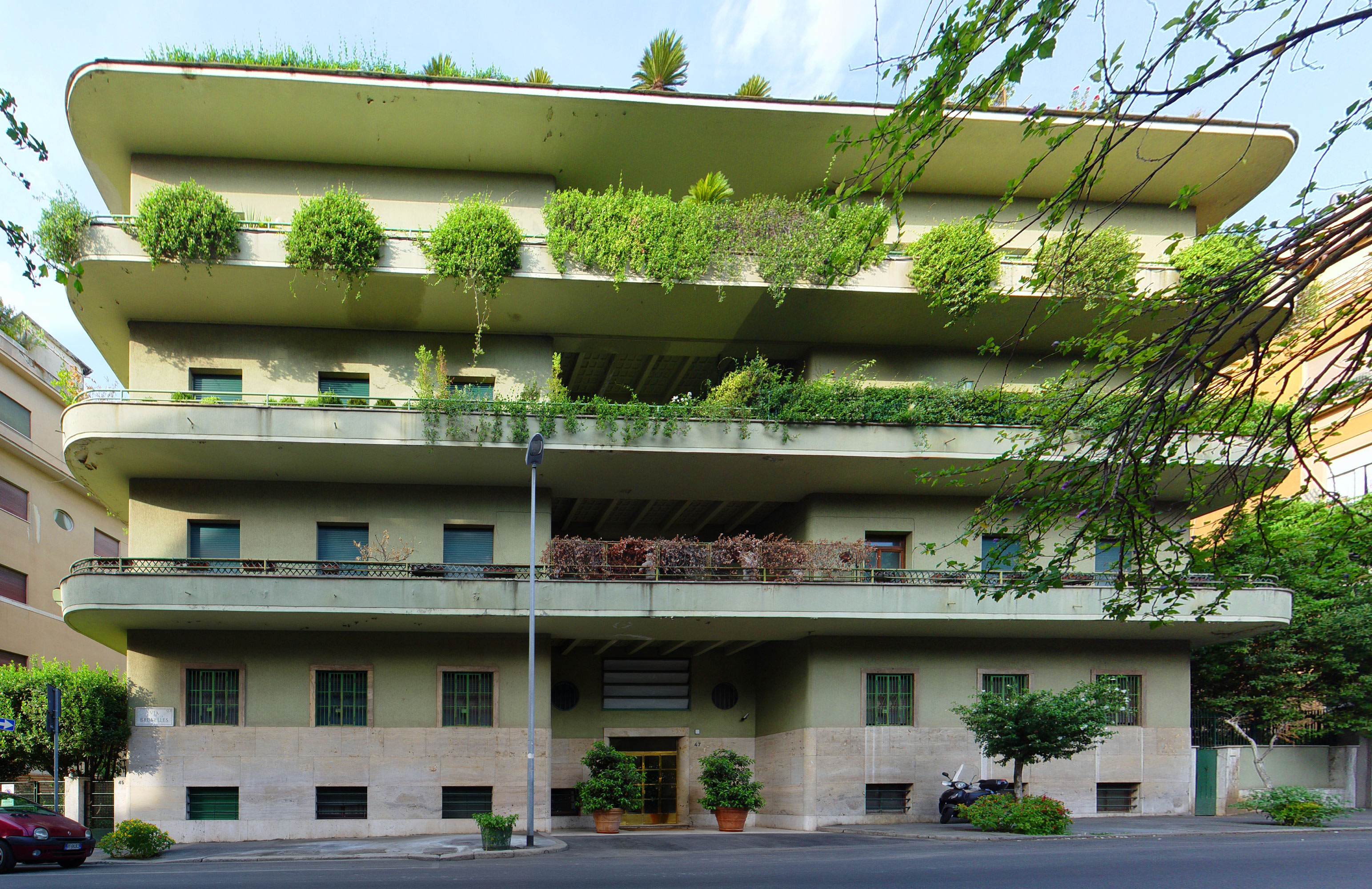 Architettura razionalista a roma 1920 1940 for Piani di palazzi contemporanei