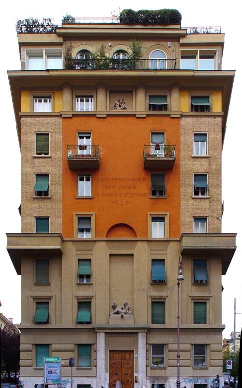 Architettura razionalista a roma 1920 1940 for Palazzo in stile messicano